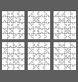 six different white puzzles vector image vector image