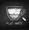 sketch of flat white coffee vector image vector image