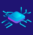 smart chip icon isometric style vector image vector image
