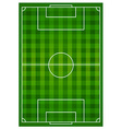 Soccer sports field with lines vector image vector image