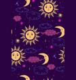 stars sun and moon seamless pattern graphics vector image