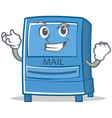 successful mailbox character cartoon style vector image vector image