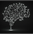 technological neon brain circuit board vector image vector image