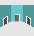 three abstract closed doors vector image vector image