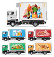 truck car full food products vector image