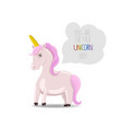 unicorn with pink hair and a motivational quote vector image