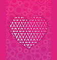 valentines day card or wedding invitation template vector image