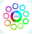 watercolor circles frame vector image vector image