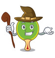 witch ping pong racket mascot cartoon vector image vector image