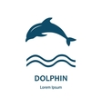 Design of logo with dolphin and label vector image