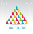 Trees Christmas Tree Card vector image