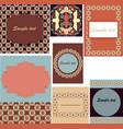 set of templates for cardsweddingbirthday vector image