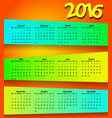 2016 calendar modern simple design vector image