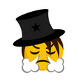 angry magician emoji blowing wind from its nose vector image