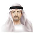 Arab man vector image