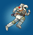 astronaut runs forward vector image vector image