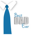 best dad ever greeting card vector image