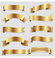 big golden ribbons se vector image