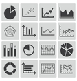 black diagram icons set vector image