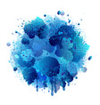 blue spray paint with abstract splatter color vector image