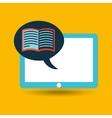 blue tablet cartoon e-book design vector image