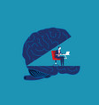 brain working concept business vector image