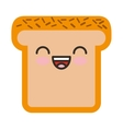 bread character isolated icon vector image vector image