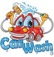 car wash service vector image