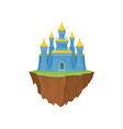 cartoon colorful island castle on white background vector image vector image