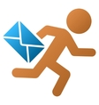 Child Mail Courier Gradient Icon vector image vector image
