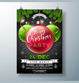 christmas party flyer with shiny vector image vector image