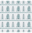 Christmas trees vintage seamless pattern vector image vector image