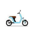 classic moped isolated on white icon vector image vector image