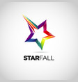 colorful star fall logo design symbol vector image vector image