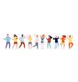 dancing people characters crowd party dancing vector image vector image