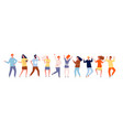 dancing people characters crowd party vector image