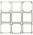 decorative frames set 49 vector image vector image