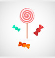 delicious pink lollypop and sweet vector image