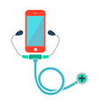 doctor online smartphone with stethoscope web vector image vector image