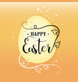 easter happy calligraphy lettering vector image vector image