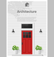 Elements of architecture front door background 4 vector image vector image