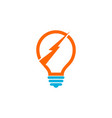 energy bulb logo vector image