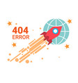 error icon 404 not found broken message banner vector image