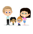 family cartoon background vector image vector image