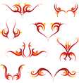 Fire tattoo set vector image