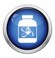 Fitness pills in container icon vector image vector image