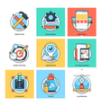Flat Color Line Design Concepts Icons 23 vector image vector image