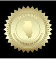Gold star label Illinois vector image vector image