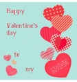 Happy valentines day design template Valentine s vector image vector image