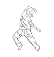 Hip-hop man dancer vector image